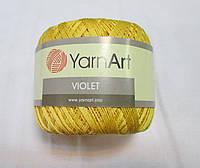 Пряжа Violet YarnArt 100% бавовна жовтий № 4653