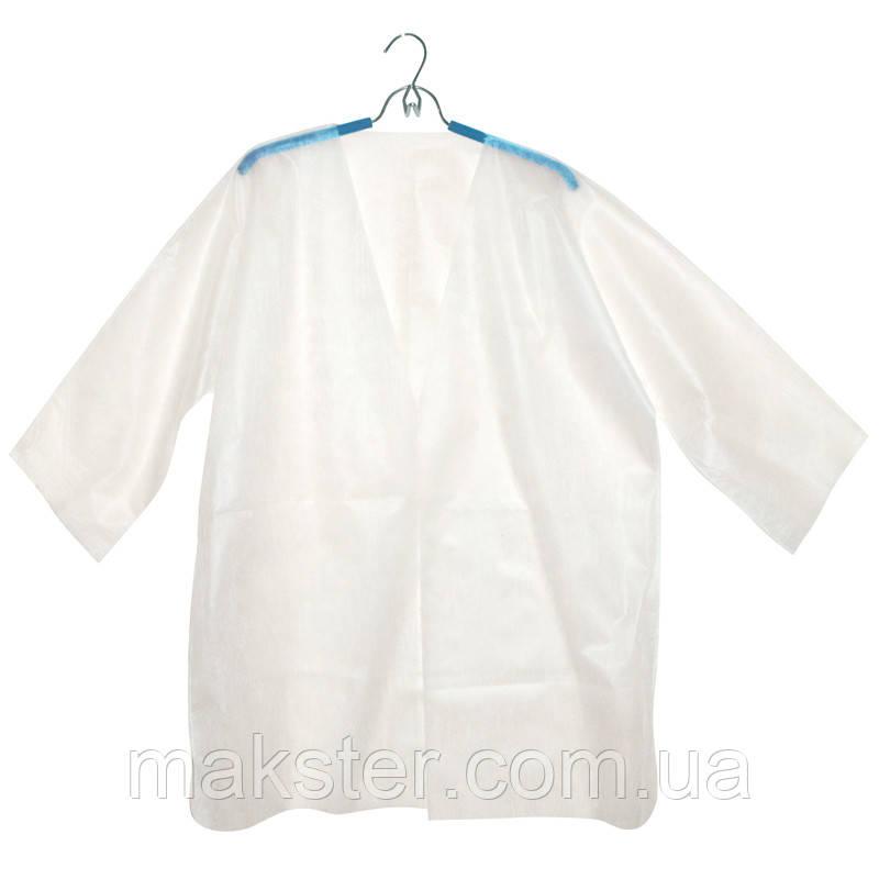 Куртка для прессотерапии универсальная на завязке спанбонд, L/XXL, 5 шт/уп, белый, Panni Mlada