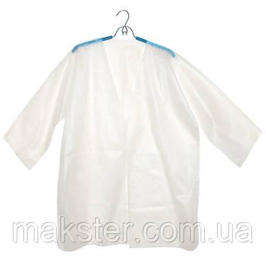 Куртка для прессотерапии универсальная на завязке спанбонд, L/XXL, 5 шт/уп, белый, Panni Mlada, фото 2
