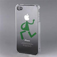 РАСПРОДАЖА! Durable Plastic Skin Case for iPhone 4 (Transparent)