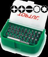 """Набор бит 1/4"""" SL;PH;PZ;TORX;HEX +магнитный держатель  31ед."""