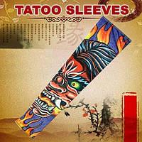 Рукава татуировки принт fire devil, 2 шт