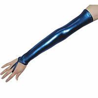 РАСПРОДАЖА! Синие длинные виниловые перчатки