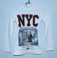 Теплая туника для девочки 8-11 лет NYC белая
