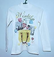 Теплая туника для девочки 8-11 лет Winter белая