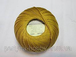 Пряжа Лілі Lily YarnArt 100% бавовна золотистий № 0351