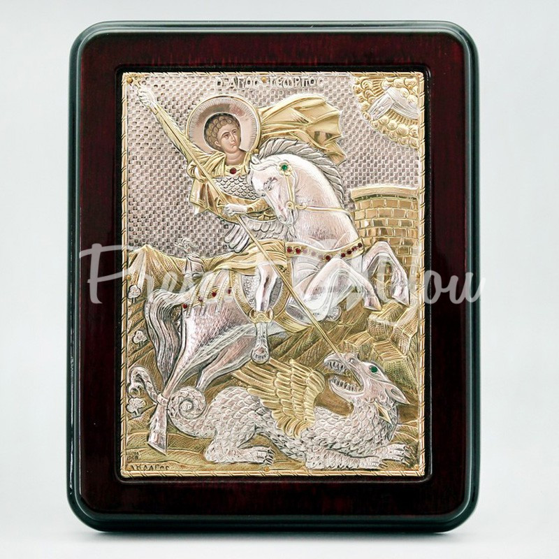 Икона «Святой Георгий Победоносец», 17х21 см.