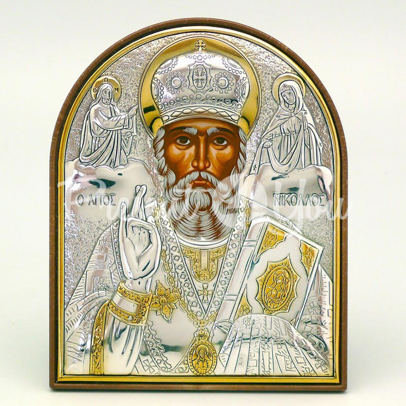 Икона «Святой Николай Чудотворец», 8х10 см.