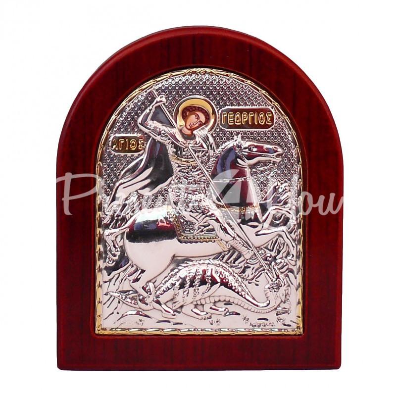 Икона «Святой Георгий Победоносец», 11,5х13,5 см.