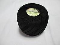 Пряжа Лілі LilyYarnArt 100% бавовна чорний № 0351