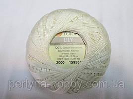 Пряжа нитки для вязания Лили Lily YarnArt 100%   в мотках бавовна молочний № 6282