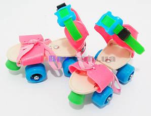 Ролики дитячі квадровые Mini Roller Рожевий/блакитний (2T3001)