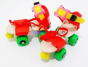 Ролики дитячі квадровые Mini Roller Червоний/Зелений (2T3001)