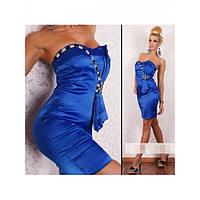 Синие мини платье
