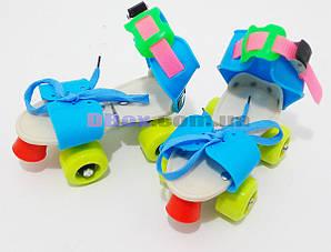 Ролики дитячі квадровые Mini Roller Синій/Жовтий (2T3001)