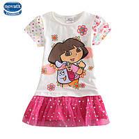 Детское нарядное платье Дора следопыт (Даша путешественница) на 1,5-2 года