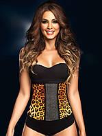 Сильно утягивающий корсет с леопардовым принтос, фото 1