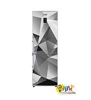 Виниловые наклейки на холодильник Абстракция 3D