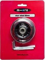 Колесо заднее прозрачное 80мм для самоката Micro Mini / Maxi