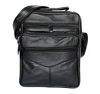 Мужская вместительная сумка комбинированная нат. кожа и эко-кожа (890)