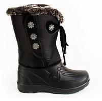 Женские зимние дутики-сноубутсы непромокаемые и очень теплые из ЕВА пены с меховым утеплителем р.39