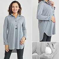 Блуза-платье Моника Серый жемчуг S