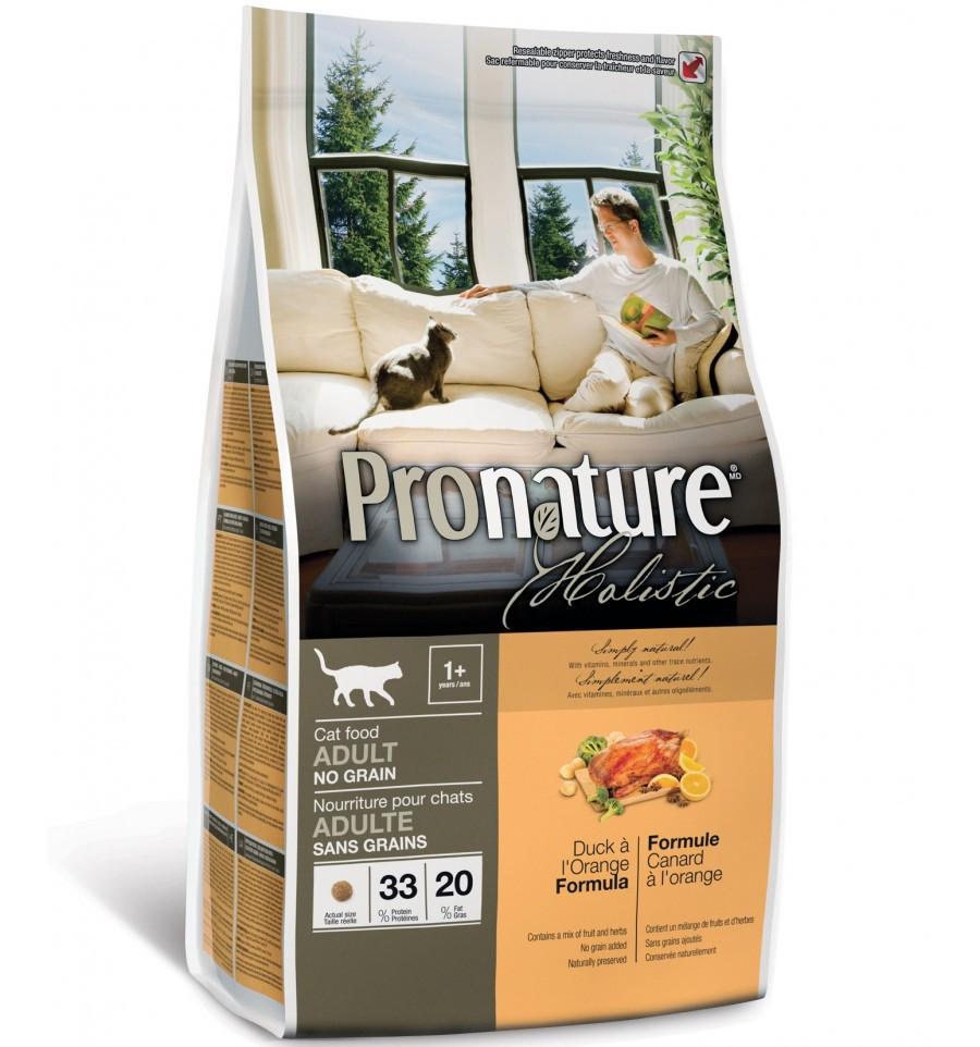 Pronature Holistic Cat Adult Duck & Orange 5.44 кг - сухой холистик корм для котов (утка/апельсин)