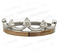 """Женское серебряное кольцо с золотыми пластинами """"Волшебство"""", фото 1"""