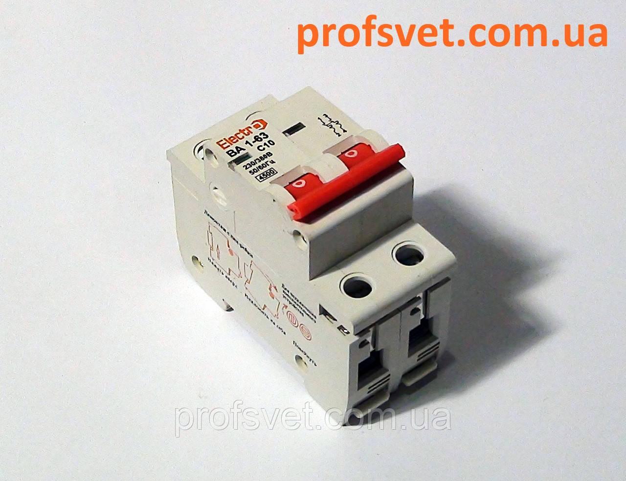 Автомат выключатель двухполюсный 25А тип С