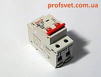Автомат выключатель двухполюсный 25А тип С, фото 1