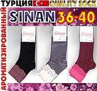 """Носки женские ароматизированные premium quality sock """"Sinan"""" Турция 36-40р  ассорти НМП-64"""
