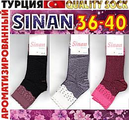 """Носки женские ароматизированные premium quality sock """"Sinan"""" Турция 36-40р  ассорти НМП-2364"""