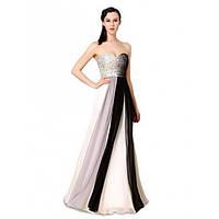 Платье без бретель с мерцающим верхом и отливом