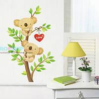 РАСПРОДАЖА! Виниловая наклейка - Влюбленные мишки на дереве