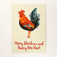 Новогодняя открытка в год Петуха