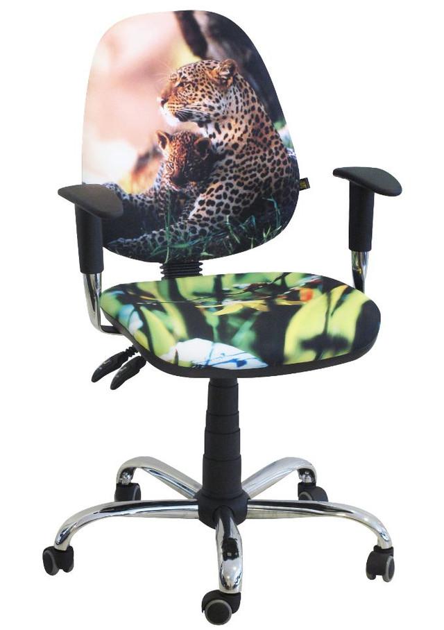 Кресло Бридж Хром Дизайн 7- Леопард.