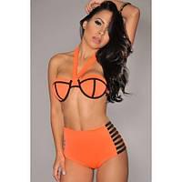 Яркий оранжевый купальник Triangl