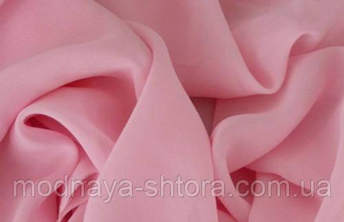 Шифон (вуаль) однотонный розовый