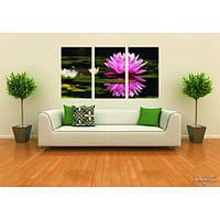 Модульная картина из 3 частей, цветок, 140х90