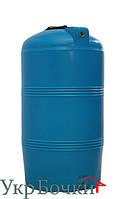 Емкость пластиковая для воды 250 литров, вертикальный бак синий