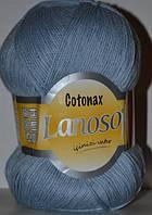 Пряжа для ручного и машинного вязания Lanoso Cotonax, цвет Серо-голубой