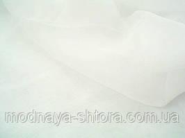 Шифон (вуаль) однотонный белоснежный