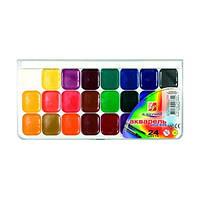 Краски акварель медовые Луч 19с1294/15с1055, 24 цвета, б/кист.