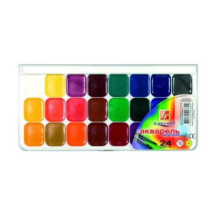Краски акварель медовые Луч 19с1294/15с1055, 24 цвета, б/кист., фото 2