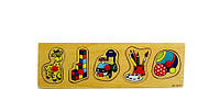 Рамка-вкладыш Игрушки развивающая деревянная игрушка 2 вида
