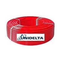 Труба для теплого пола из сшитого полиэтилена Unidelta Triterm Rosso Pex/EVOH 16х2,0