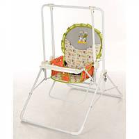 Детские качели - стульчик 2 в 1 оранжевые