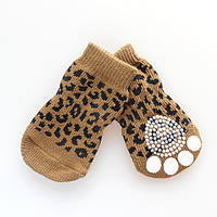 Носки антискользящие для собак, Dobaz Леопард