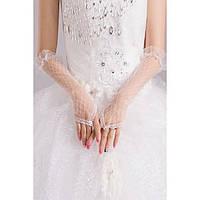 Ажурные женские длинные перчатки