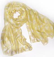 Чудесный женский легкий шарф-парео 180 на 90 dress 704_желт